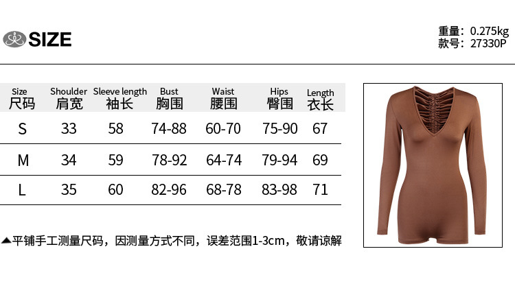 hirigin Women Lace Drawstring Pleated Bodycon Playsuits Sexy Hollow Out Backless Long Sleeve Jumpsuit Clubwear Female Bodysuit